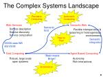 the complex systems landscape