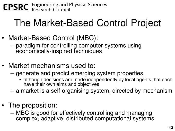 The Market-Based Control Project