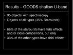 results goods shallow u band2