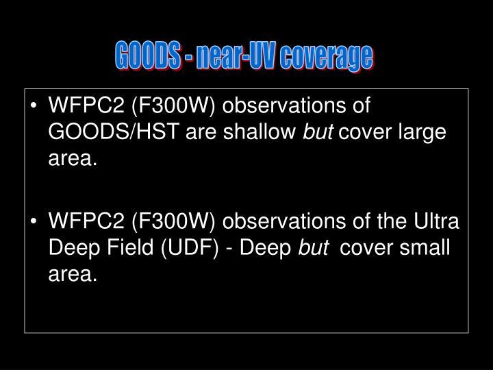 GOODS - near-UV coverage