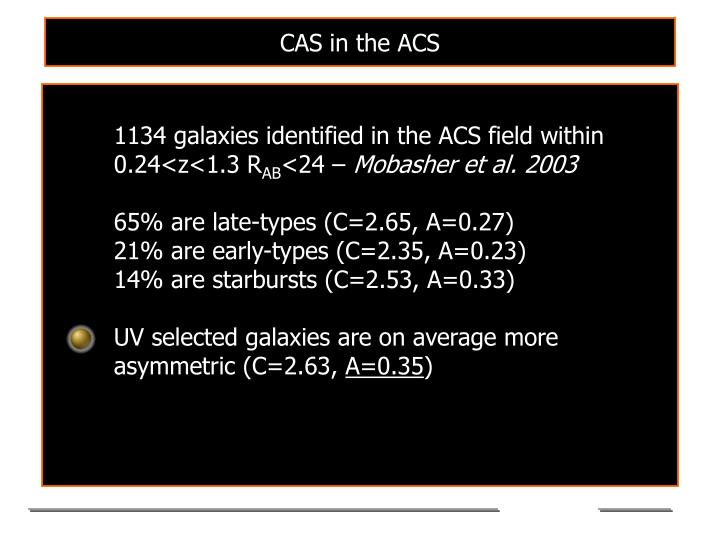 CAS in the ACS