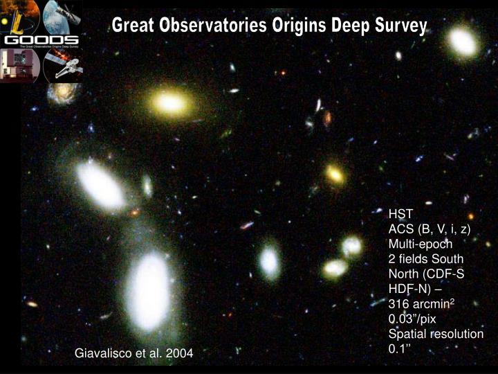 Great Observatories Origins Deep Survey