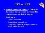 crt vs nrt1