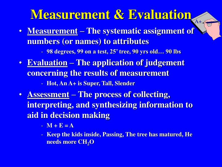 Measurement evaluation