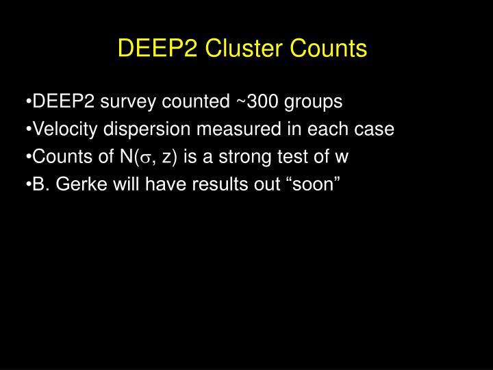 DEEP2 Cluster Counts
