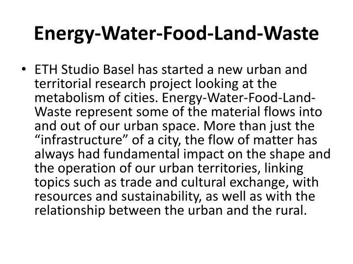 Energy-Water-Food-Land-Waste