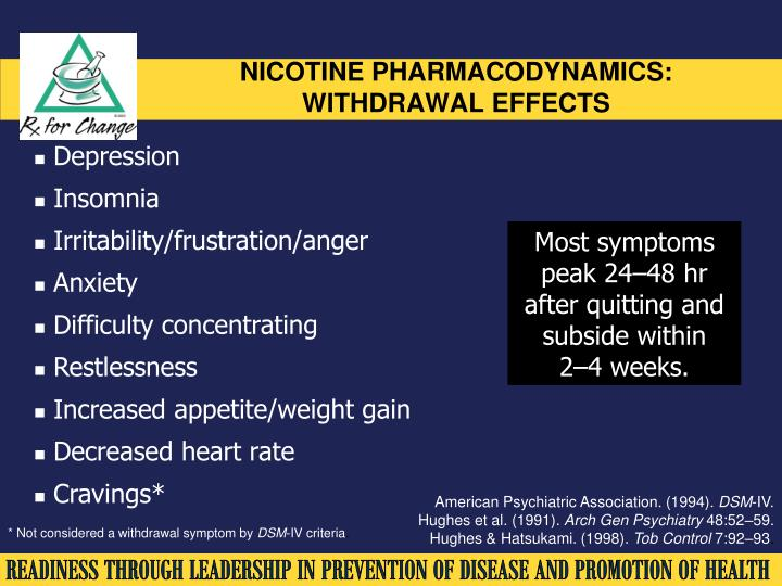 NICOTINE PHARMACODYNAMICS: