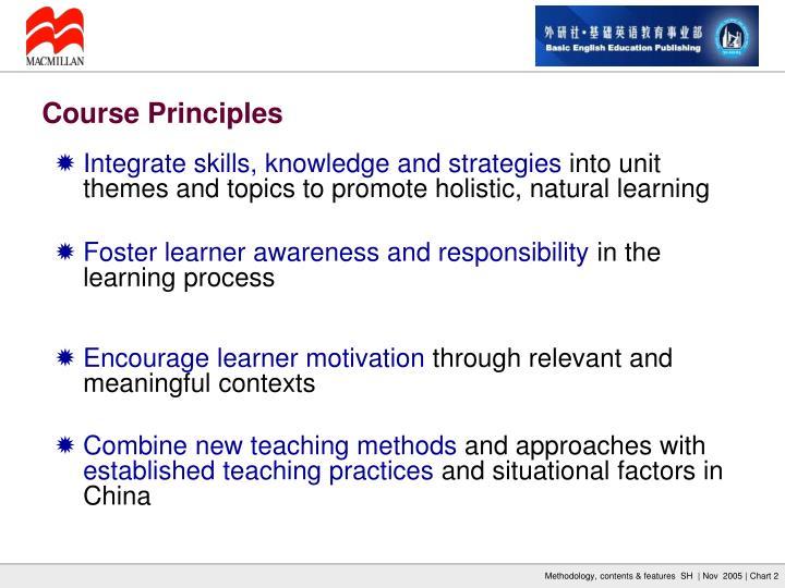 Integrate skills, knowledge and strategies