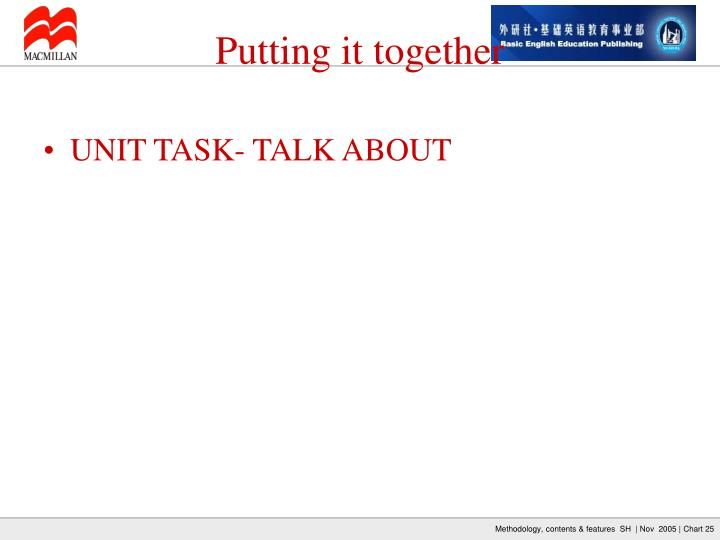 UNIT TASK- TALK ABOUT
