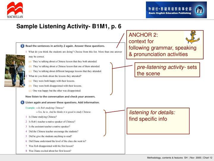 pre-listening activity-