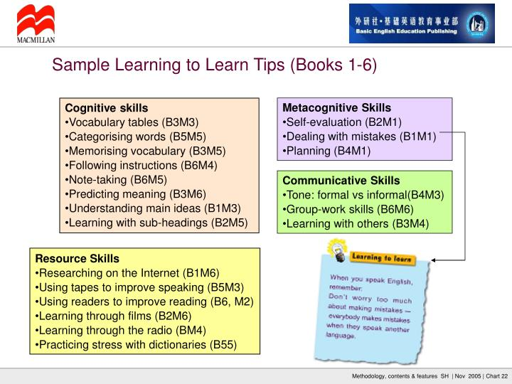 Sample Learning to Learn Tips (Books 1-6)