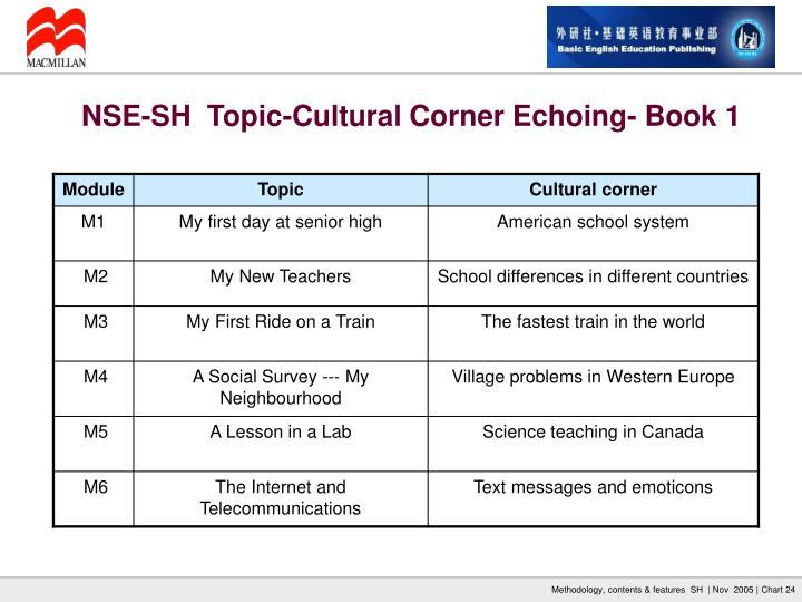 NSE-SH  Topic-Cultural Corner Echoing- Book 1