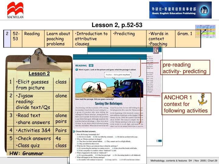 pre-reading activity- predicting