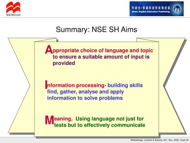 Summary: NSE SH Aims
