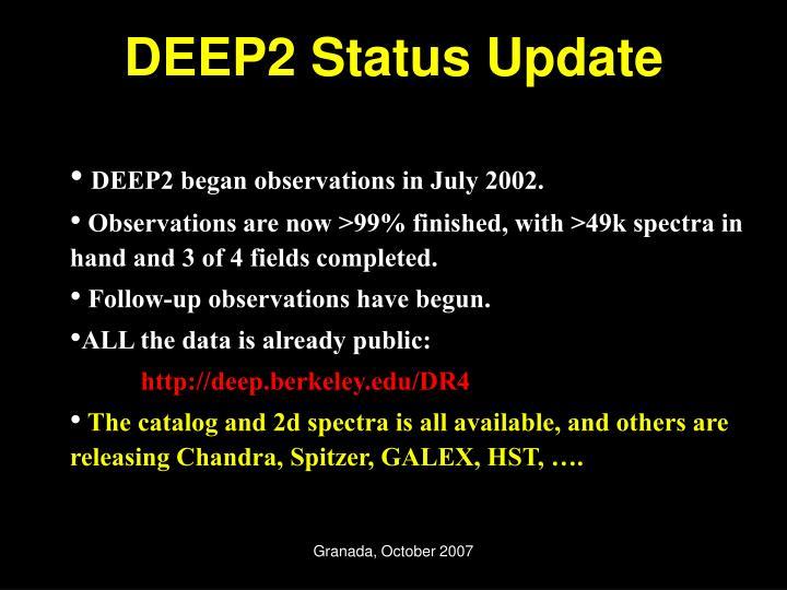 DEEP2 Status Update