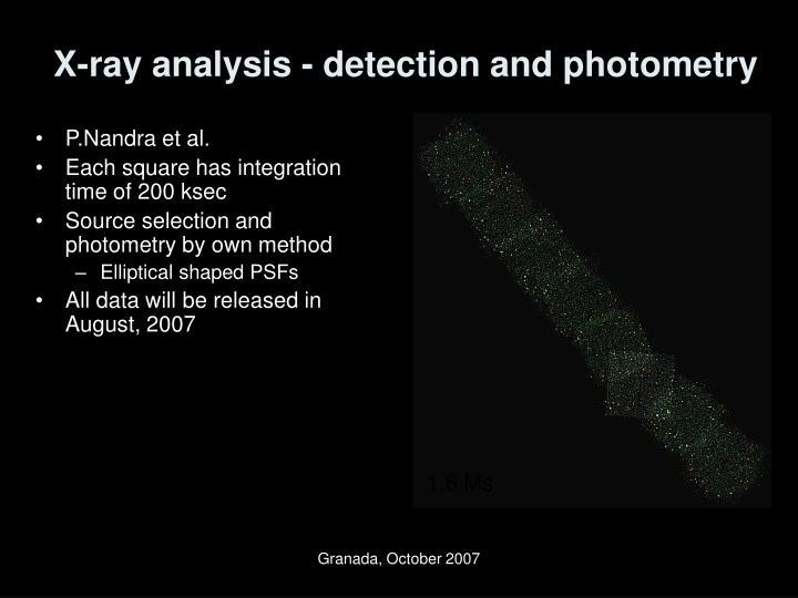 X-ray analysis - detection and photometry