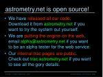astrometry net is open source