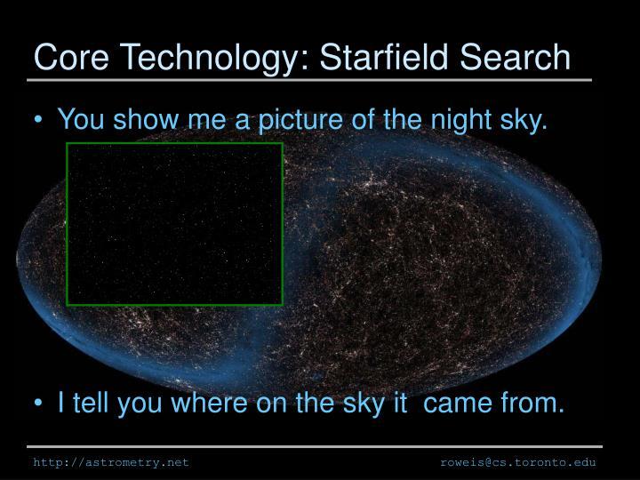 Core Technology: Starfield Search