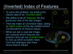 inverted index of features