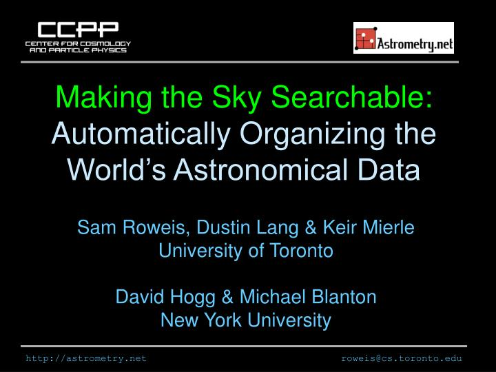 Making the Sky Searchable: