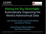 making the sky searchable automatically organizing the world s astronomical data