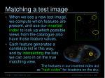 matching a test image