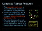 quads as robust features1