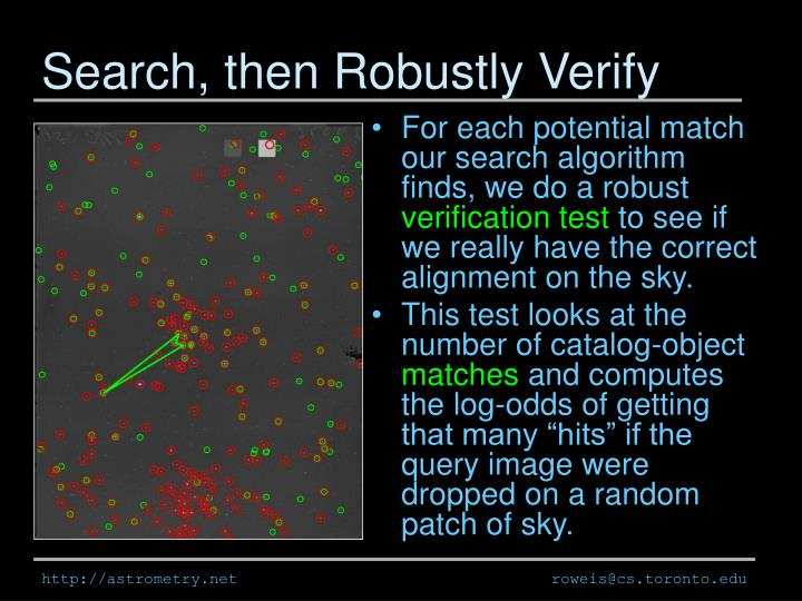 Search, then Robustly Verify