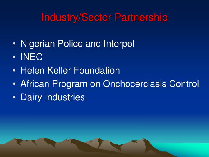 Industry/Sector Partnership