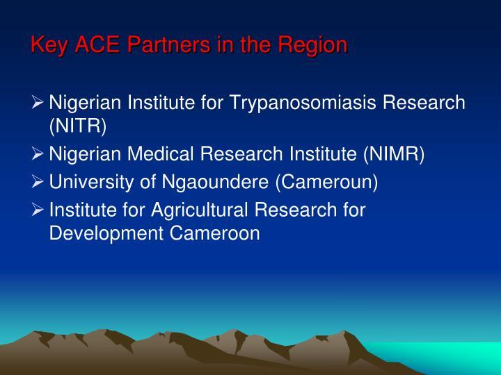 Key ACE Partners in the Region