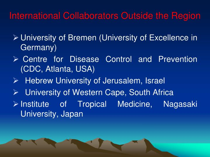 International Collaborators Outside the Region