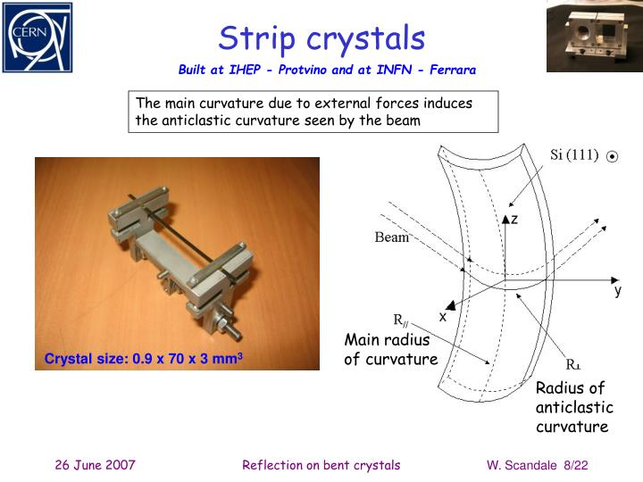 Strip crystals