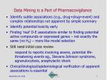 data mining is a part of pharmacovigilance