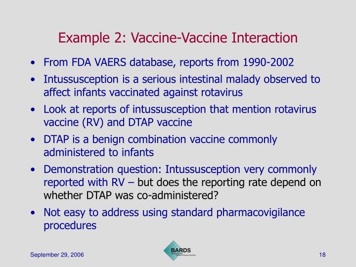 Example 2: Vaccine-Vaccine Interaction