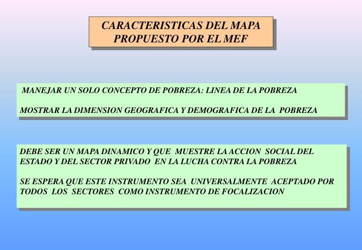 CARACTERISTICAS DEL MAPA