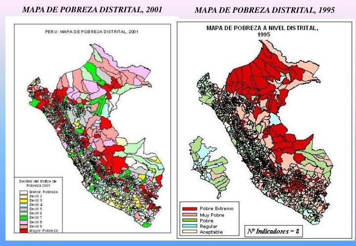 MAPA DE POBREZA DISTRITAL, 2001