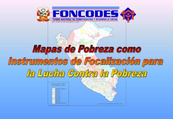 Mapas de Pobreza como