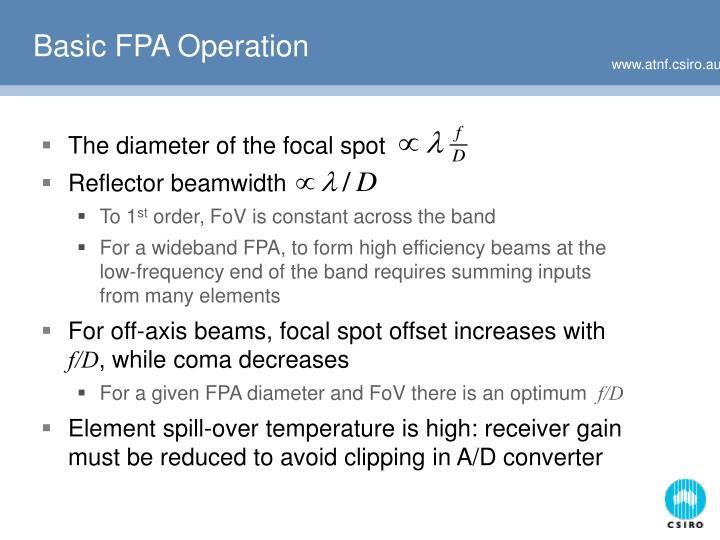 Basic FPA Operation