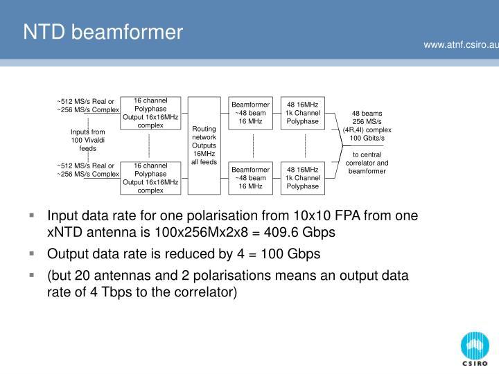 NTD beamformer