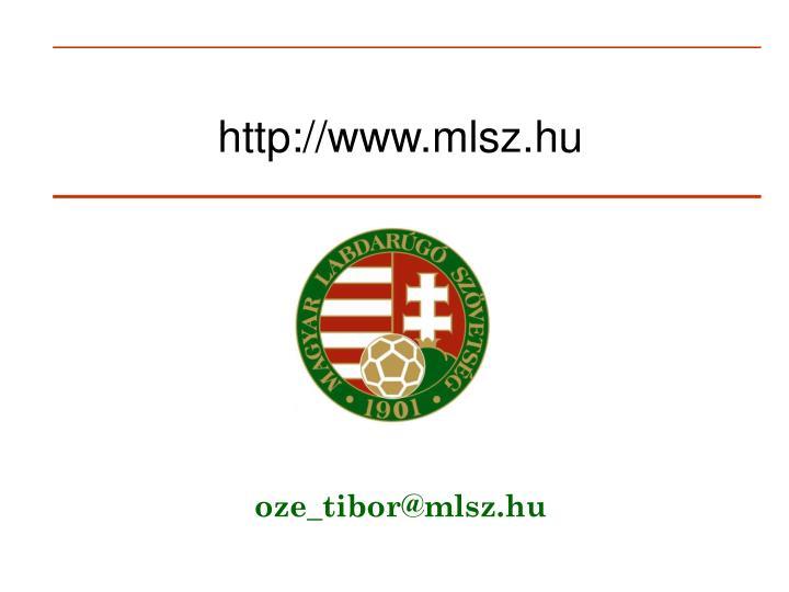 http://www.mlsz.hu
