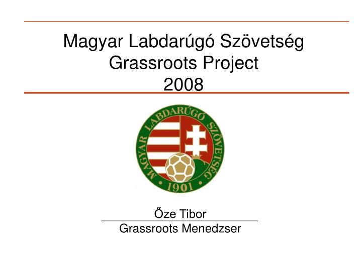 magyar labdar g sz vets g grassroots project 2008
