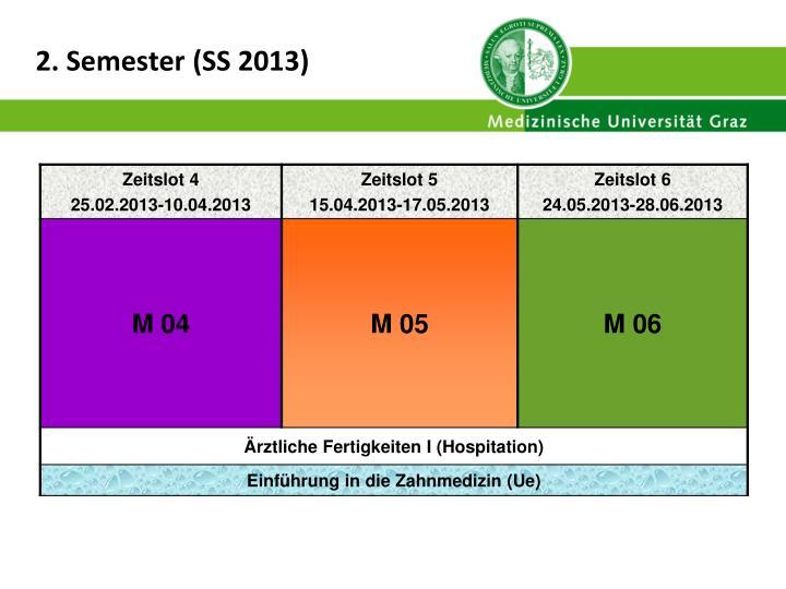 2. Semester (SS 2013)