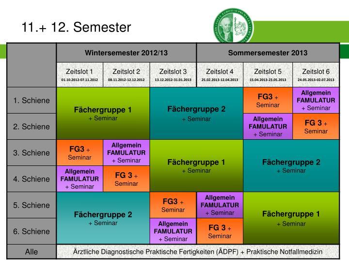 11.+ 12. Semester