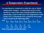 a temperature experiment