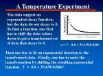 a temperature experiment1