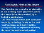 farmingdale math bio project
