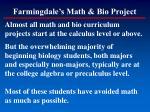 farmingdale s math bio project