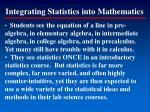 integrating statistics into mathematics