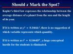 should x mark the spot1