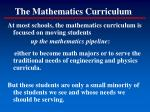 the mathematics curriculum